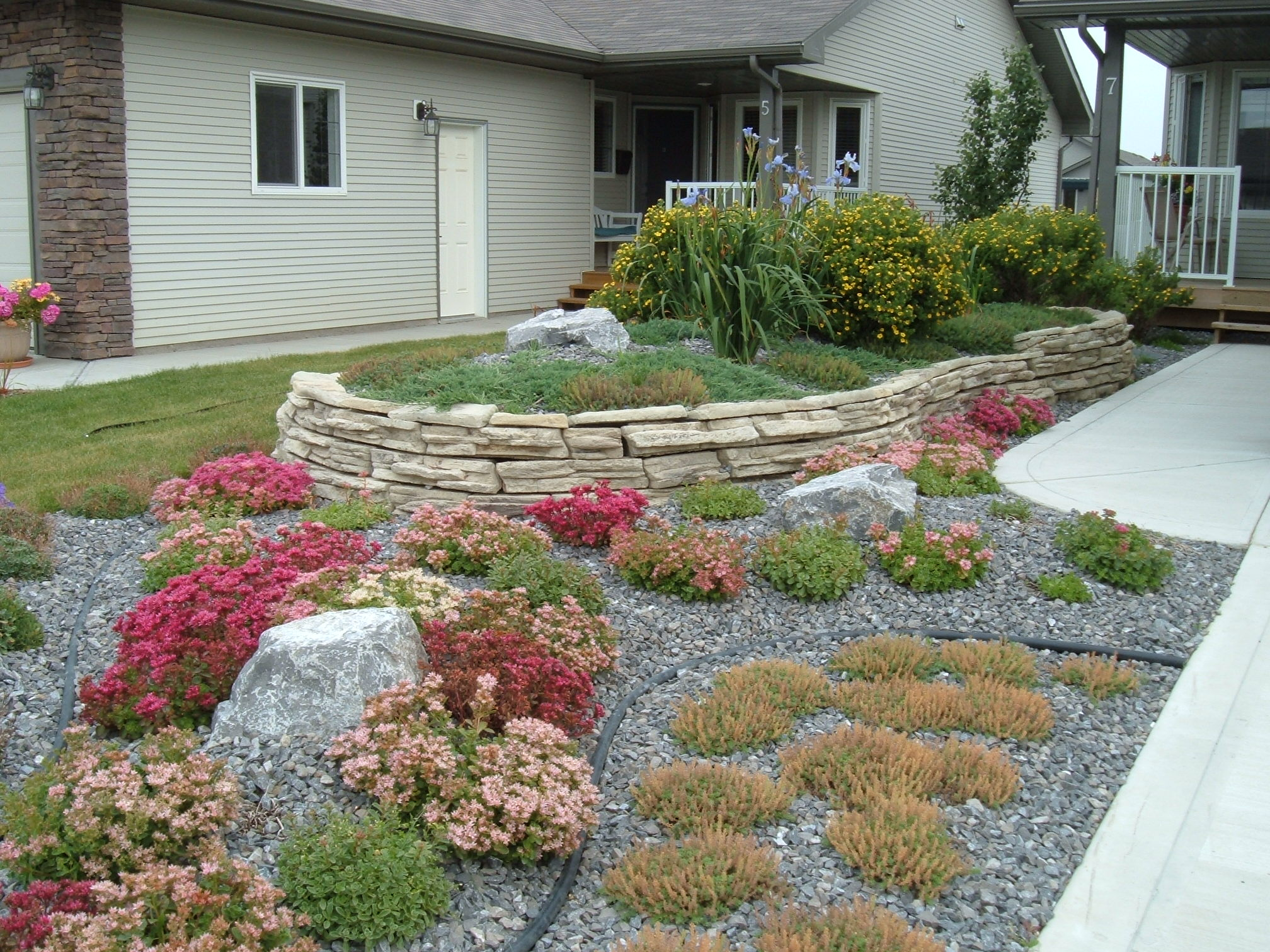 minimal maintenance creative landscape design
