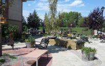 Final touches in a Memory Garden at Bethany CollegeSide, Red Deer